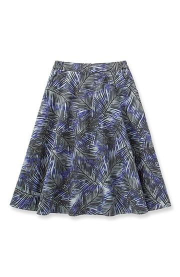 エムトロワ パームプリントのフレアスカート <ブルー系その他>の商品写真