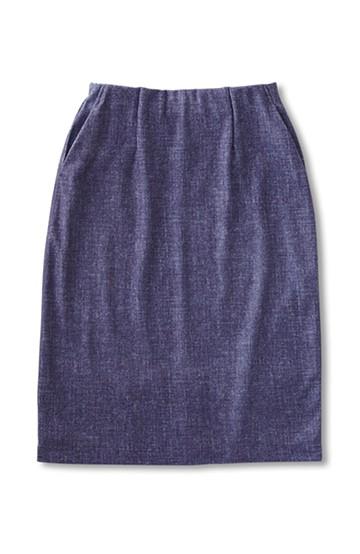 SHE THROUGH SEA #フェイクデニムジャージースカート <インディゴブルー>の商品写真