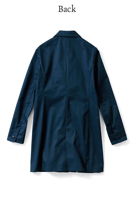 エムトロワ パイピングがポイントのきれいめチェスターコート <ネイビー>の商品写真2