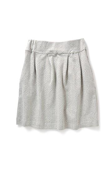 nusy 裏毛で作ったジャカードスカート <ライトグレー>の商品写真