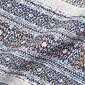 リス クロース フォークロアボーダーの軽やかワンピース <ブルー系その他>の商品写真2