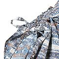 リス クロース フォークロアボーダーの軽やかワンピース <ブルー系その他>の商品写真3
