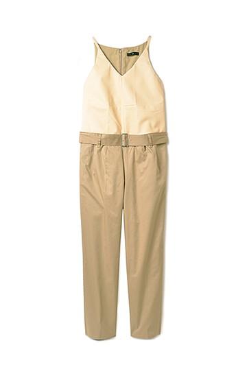 .fr Vカットの異素材ワン・スーツ <ベージュ>の商品写真