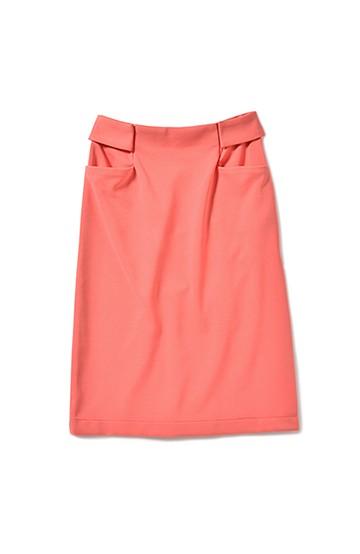 エムトロワ カラフルストレートカットソータイトスカート <サーモンピンク>の商品写真