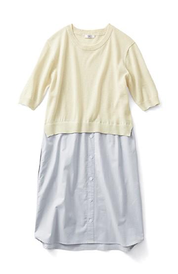 ロジーズ ニット×シャツワンピース <オフホワイト>の商品写真