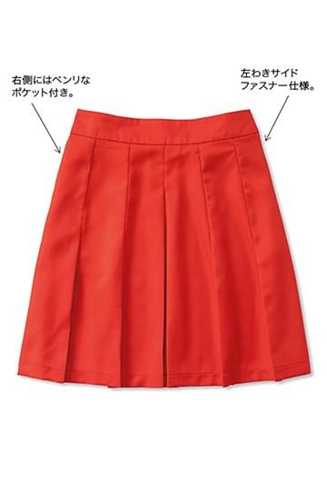 nusy 幅広めプリーツがかわいいスカート <レッド>の商品写真