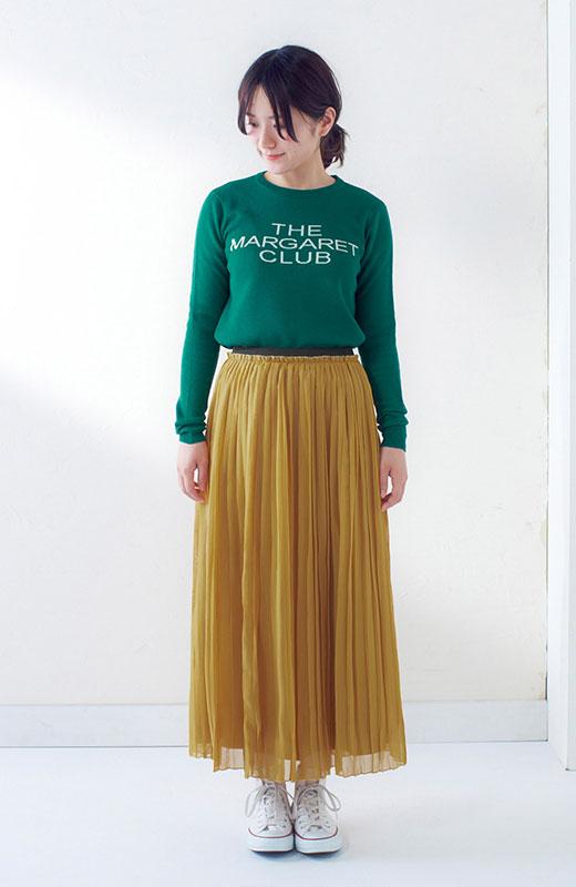 &sloe きれいな色のプリーツマキシスカート <イエロー>の商品写真4