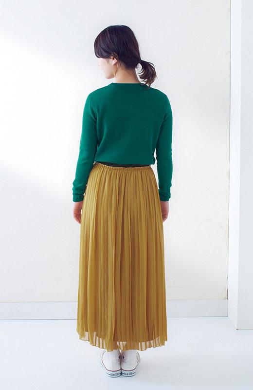 &sloe きれいな色のプリーツマキシスカート <イエロー>の商品写真6