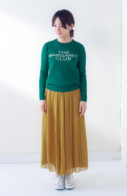 &sloe きれいな色のプリーツマキシスカート <イエロー>の商品写真7