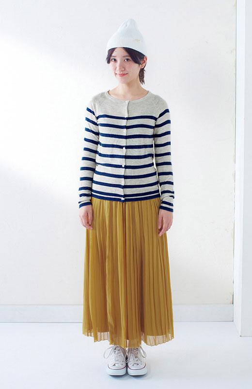 &sloe きれいな色のプリーツマキシスカート <イエロー>の商品写真8