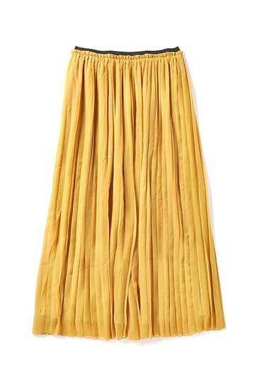 &sloe きれいな色のプリーツマキシスカート <イエロー>の商品写真