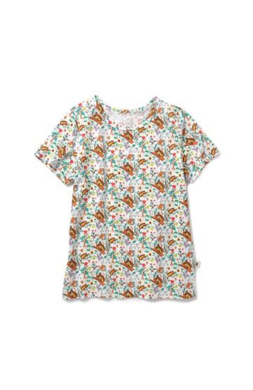 haco! CNLforPBP インドのこどもが描いた総柄Tシャツ〈レディース〉 <リス柄>の商品写真
