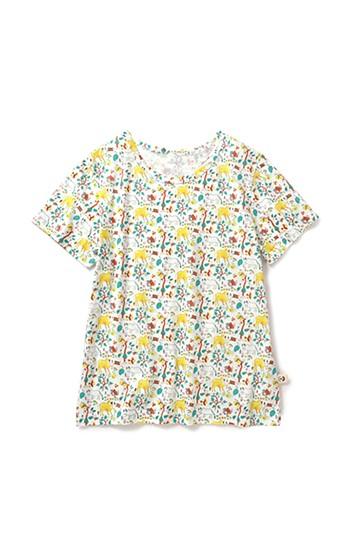 haco! CNLforPBP インドのこどもが描いた総柄Tシャツ〈メンズ〉 <ウシ柄>の商品写真