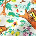 haco! CNLforPBP インドのこどもが描いた総柄Tシャツ〈メンズ〉 <リス柄>の商品写真3