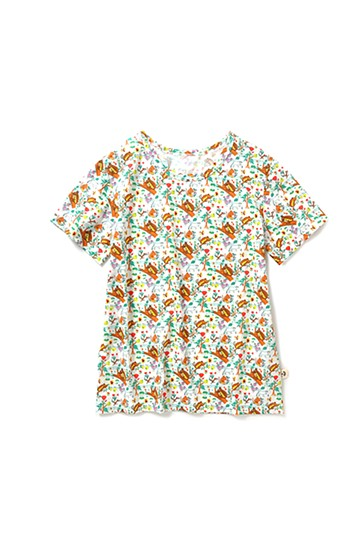 haco! CNLforPBP インドのこどもが描いた総柄Tシャツ〈メンズ〉 <リス柄>の商品写真