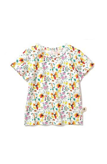 haco! CNLforPBP インドのこどもが描いた総柄Tシャツ〈キッズ〉 <ハチ柄>の商品写真