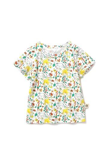 haco! CNLforPBP インドのこどもが描いた総柄Tシャツ〈キッズ〉 <ウシ柄>の商品写真