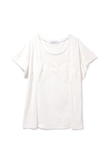 .fr ビスチェデザインTシャツ <ホワイト>の商品写真