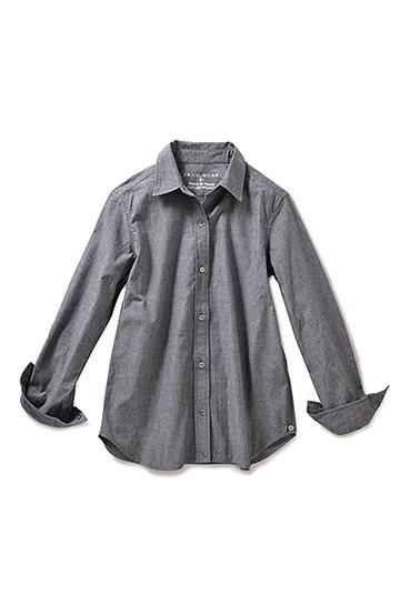 haco! FRAMeWORK FOR PBP やさしさで織り上げたシャンブレー2-WAYシャツ <グレー>の商品写真