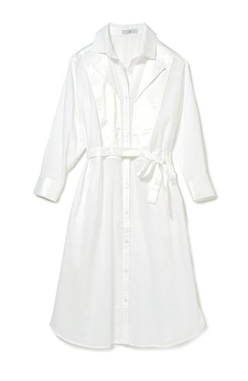 .fr ノーブルホワイトのドレスシャツワンピ <ホワイト>の商品写真
