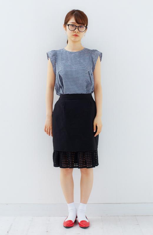 SHE THROUGH SEA #グッドルックなオンナスカート <ブラック>の商品写真5