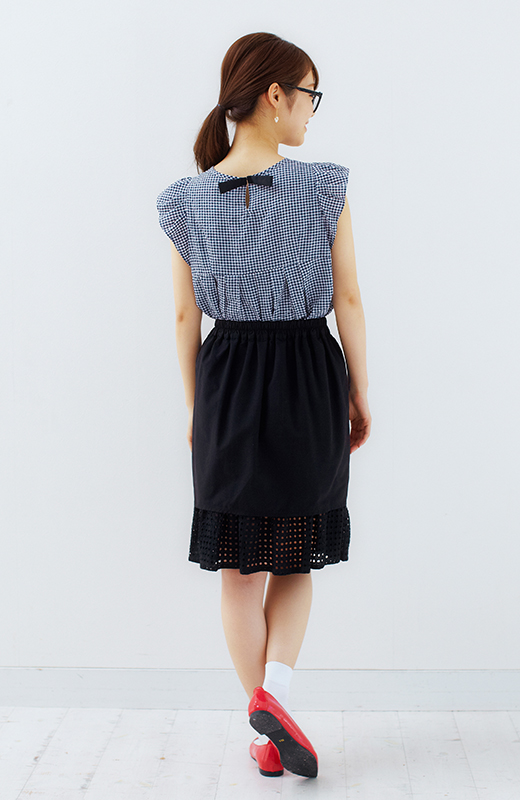 SHE THROUGH SEA #グッドルックなオンナスカート <ブラック>の商品写真6
