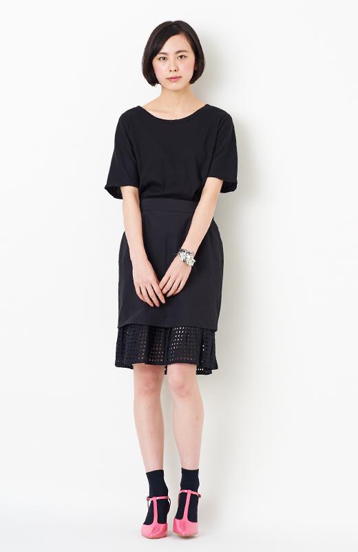 SHE THROUGH SEA #グッドルックなオンナスカート <ブラック>の商品写真7