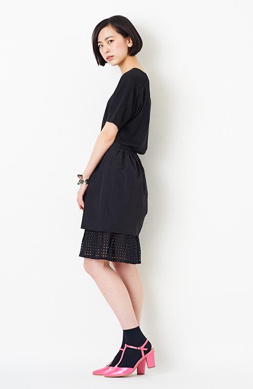 SHE THROUGH SEA #グッドルックなオンナスカート <ブラック>の商品写真8