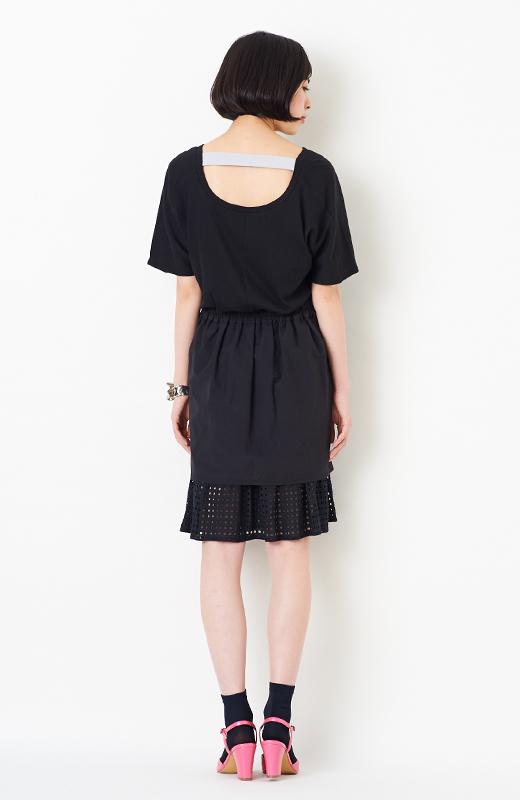 SHE THROUGH SEA #グッドルックなオンナスカート <ブラック>の商品写真9