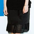 SHE THROUGH SEA #グッドルックなオンナスカート <ブラック>の商品写真10