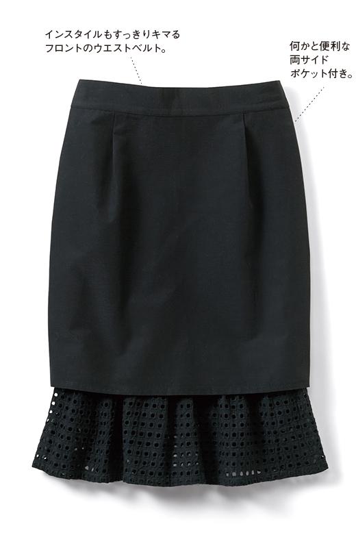 SHE THROUGH SEA #グッドルックなオンナスカート <ブラック>の商品写真1