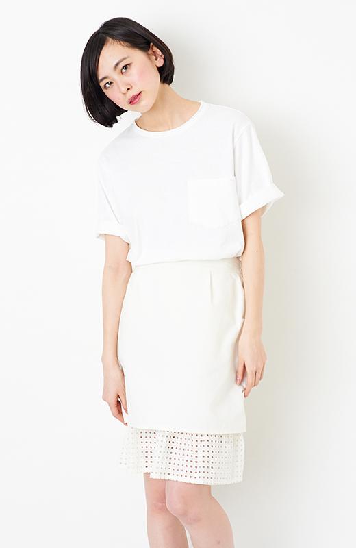 SHE THROUGH SEA #グッドルックなオンナスカート <オフホワイト>の商品写真2
