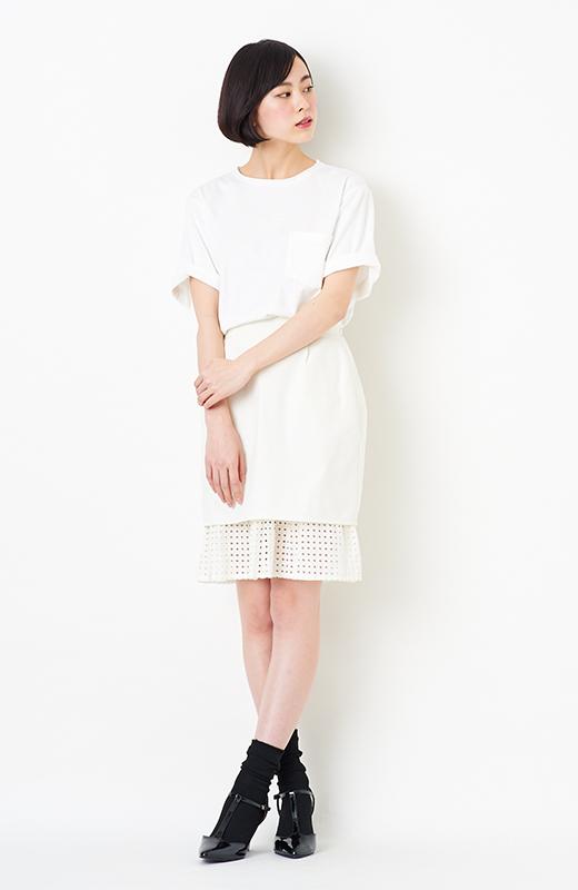 SHE THROUGH SEA #グッドルックなオンナスカート <オフホワイト>の商品写真3