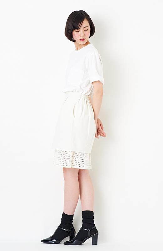 SHE THROUGH SEA #グッドルックなオンナスカート <オフホワイト>の商品写真4