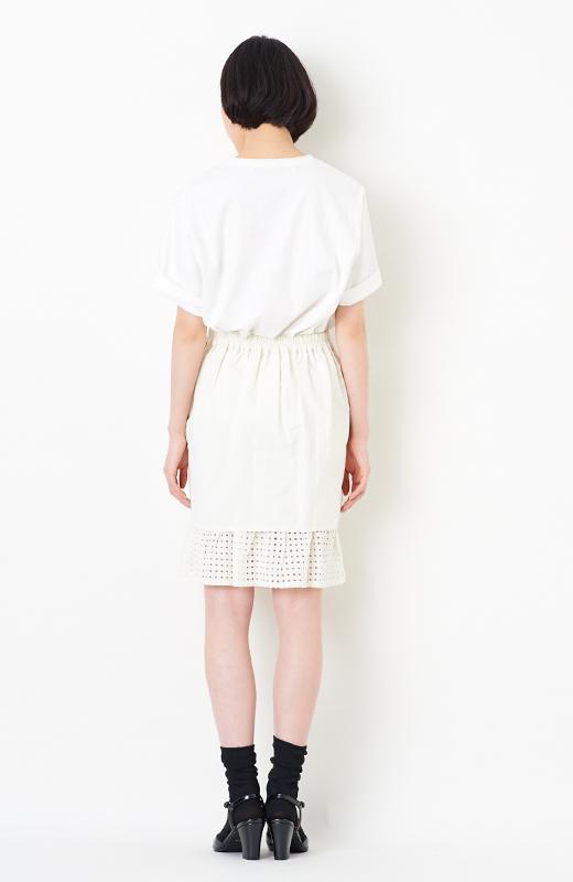 SHE THROUGH SEA #グッドルックなオンナスカート <オフホワイト>の商品写真5