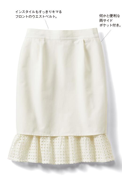 SHE THROUGH SEA #グッドルックなオンナスカート <オフホワイト>の商品写真1