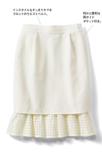 SHE THROUGH SEA #グッドルックなオンナスカート <オフホワイト>の商品写真