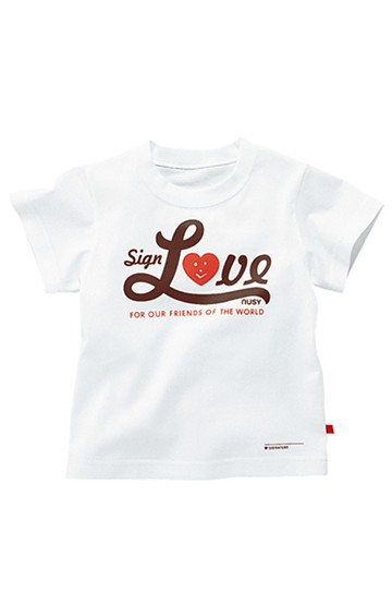 nusy サインラブメッセージTシャツ <ホワイト>の商品写真