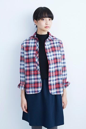 nusy カウガール風 チェックシャツ <レッド系その他>の商品写真
