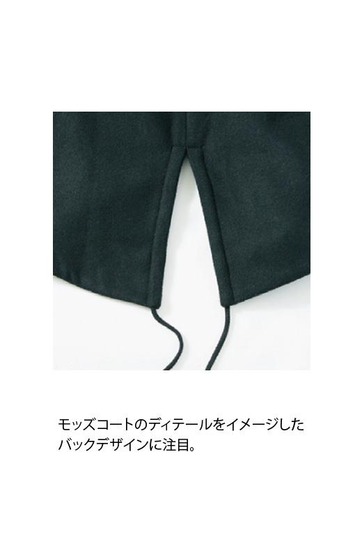 SHE THROUGH SEA #カラス色のノーカラーモッズコート <ブラック>の商品写真4