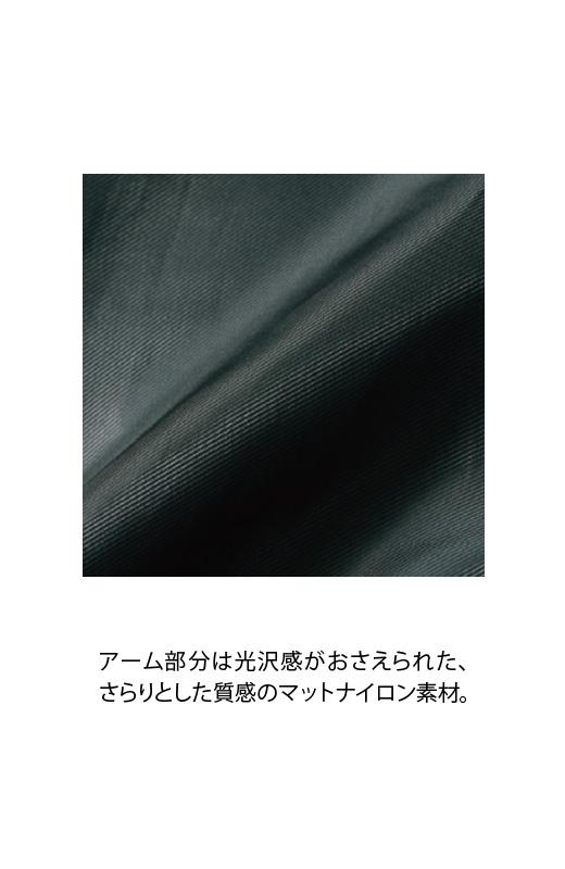 SHE THROUGH SEA #カラス色のノーカラーモッズコート <ブラック>の商品写真5