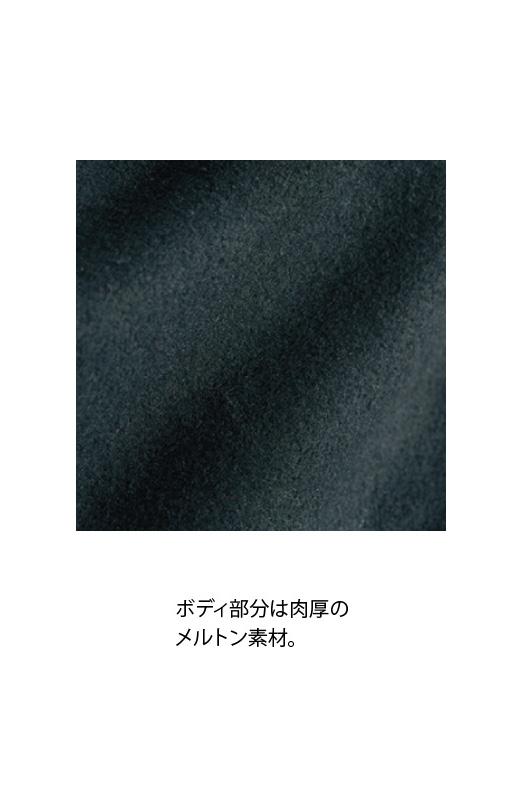 SHE THROUGH SEA #カラス色のノーカラーモッズコート <ブラック>の商品写真6