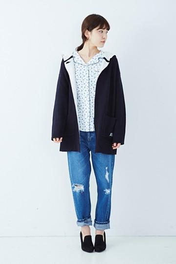 ロジーズ 星柄のとろんシャツ <ホワイト>の商品写真