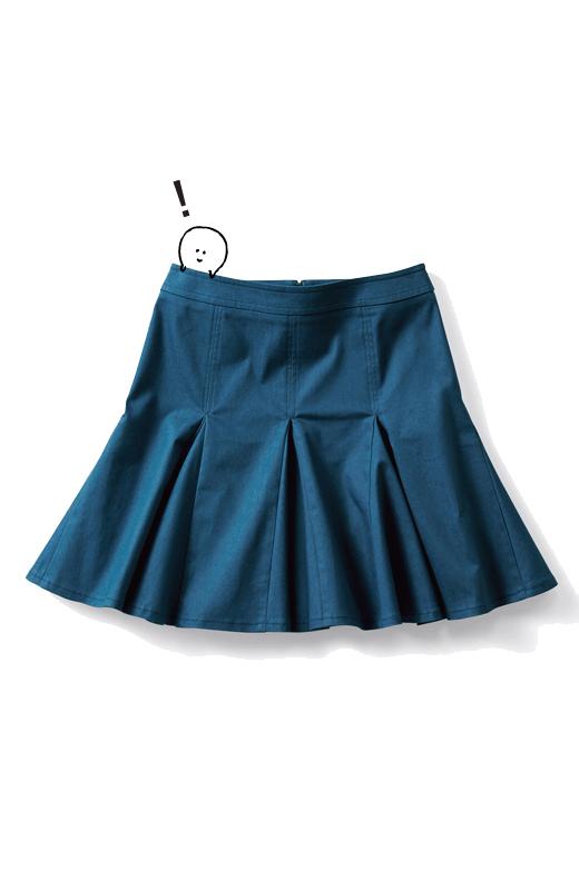 エムトロワ すそがオリガミみたいなペプラムスカート <ダークブルー>の商品写真1