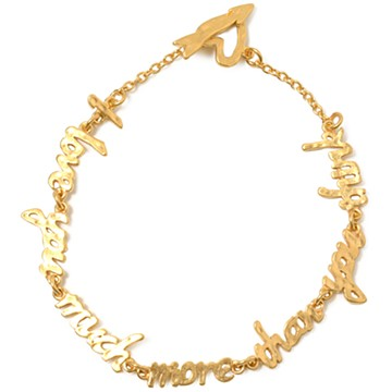 haco! てとひとて chigo I love you more than you think Bracelet <ゴールド>の商品写真