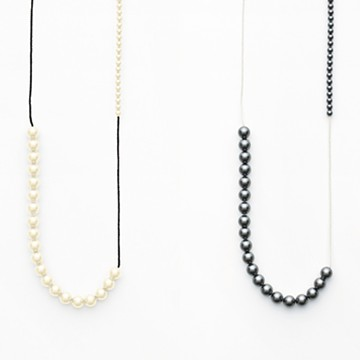 haco! てとひとて naoko ogawa Imperfect Necklace <ブラック×ホワイト >の商品写真