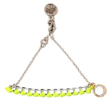 haco! てとひとて LATONKINOISE à Paris Bracelet vintage chain and fluo yarn <イエロー×シルバー>の商品写真