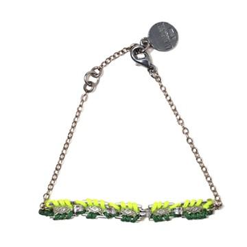 haco! てとひとて LATONKINOISE à Paris Bracelet vintage chain and fluo yarn <イエロー×グリーン>の商品写真