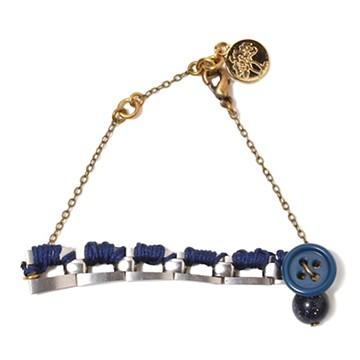 haco! てとひとて LATONKINOISE à Paris Bracelet vintage chain and fluo yarn <ネイビー×ブルー>の商品写真