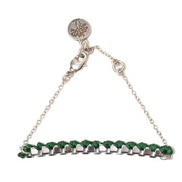 haco! てとひとて LATONKINOISE à Paris Bracelet vintage chain and fluo yarn <シルバー×グリーン>の商品写真